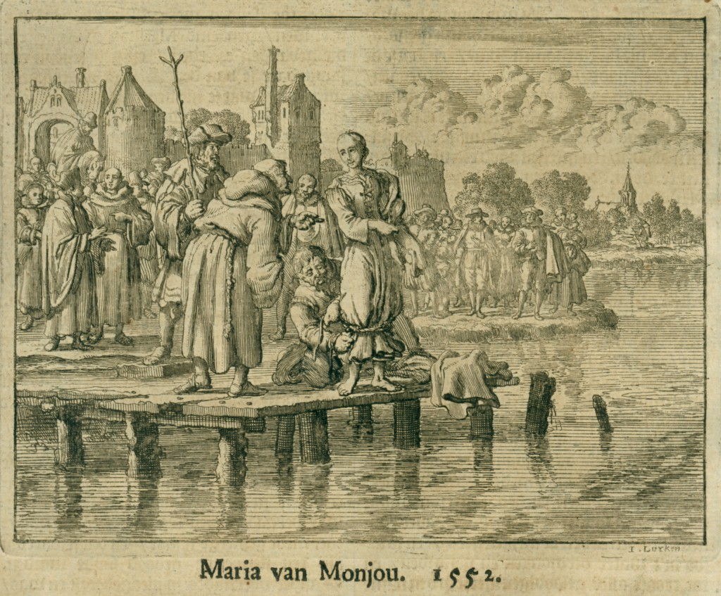 aprilyamasaki.com // Drowning of Maria van Monjou, 1552, Martyrs Mirror