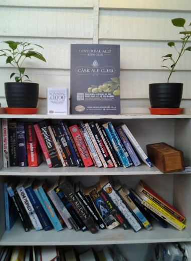 aprilyamasaki.com // Book shelf at the Eagle and Child pub