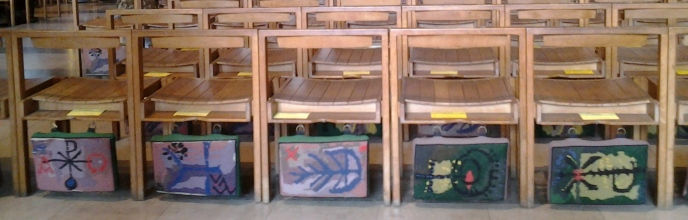aprilyamasaki.com // Coventry Cathedral seat cushions