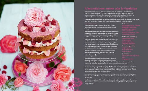 Rose-strewn birthday cake, Bill's Cookbook