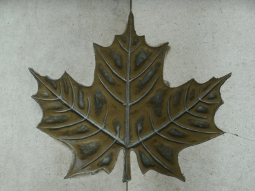 aprilyamasaki.com // Coventry Cathedral Bronze Maple Leaf