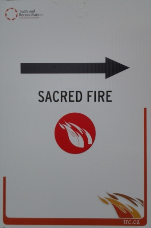 aprilyamasaki.com // Truth and Reconciliation Commission Sacred Fire Sign