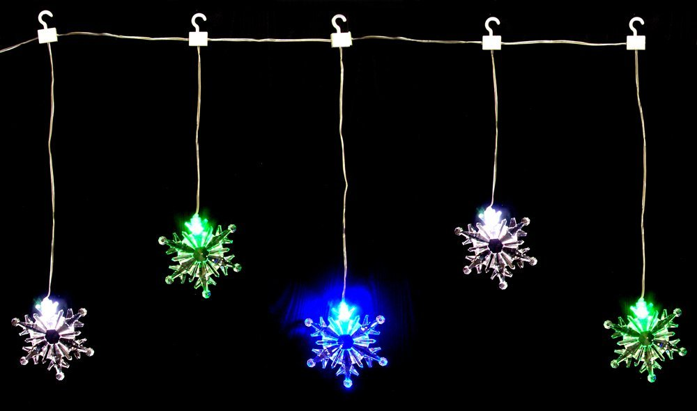 5 snowflake lights