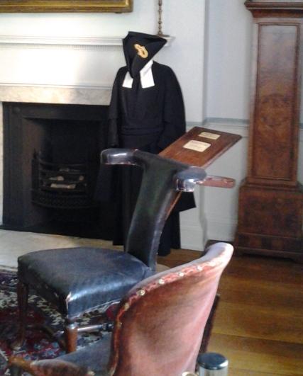 John Wesley's Straddle Desk