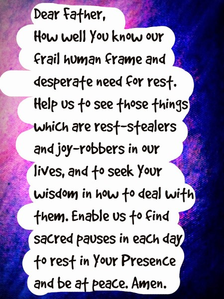 A prayer by Joy Lenton.