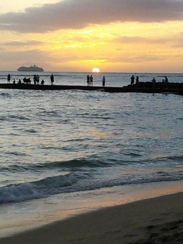 Sunset on Gray's Beach (375x500)