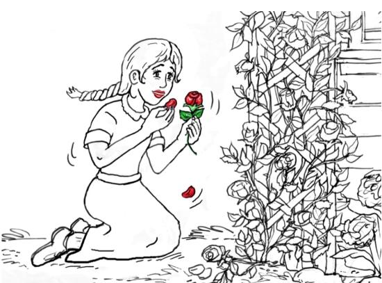 Illustration from Mennonite Daughter